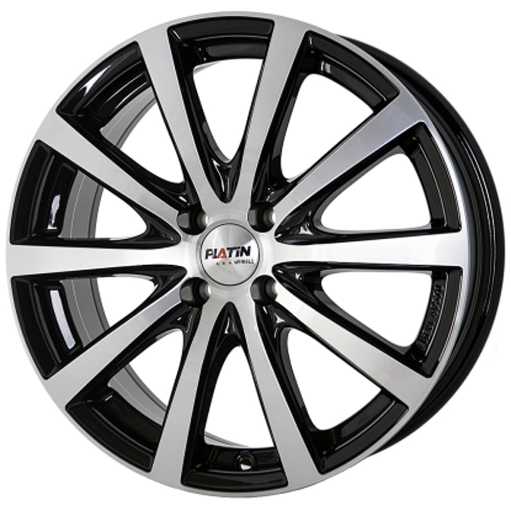 platin p69 black machined face 5x120 et50 65 1 alloy rim for volkswagen. Black Bedroom Furniture Sets. Home Design Ideas